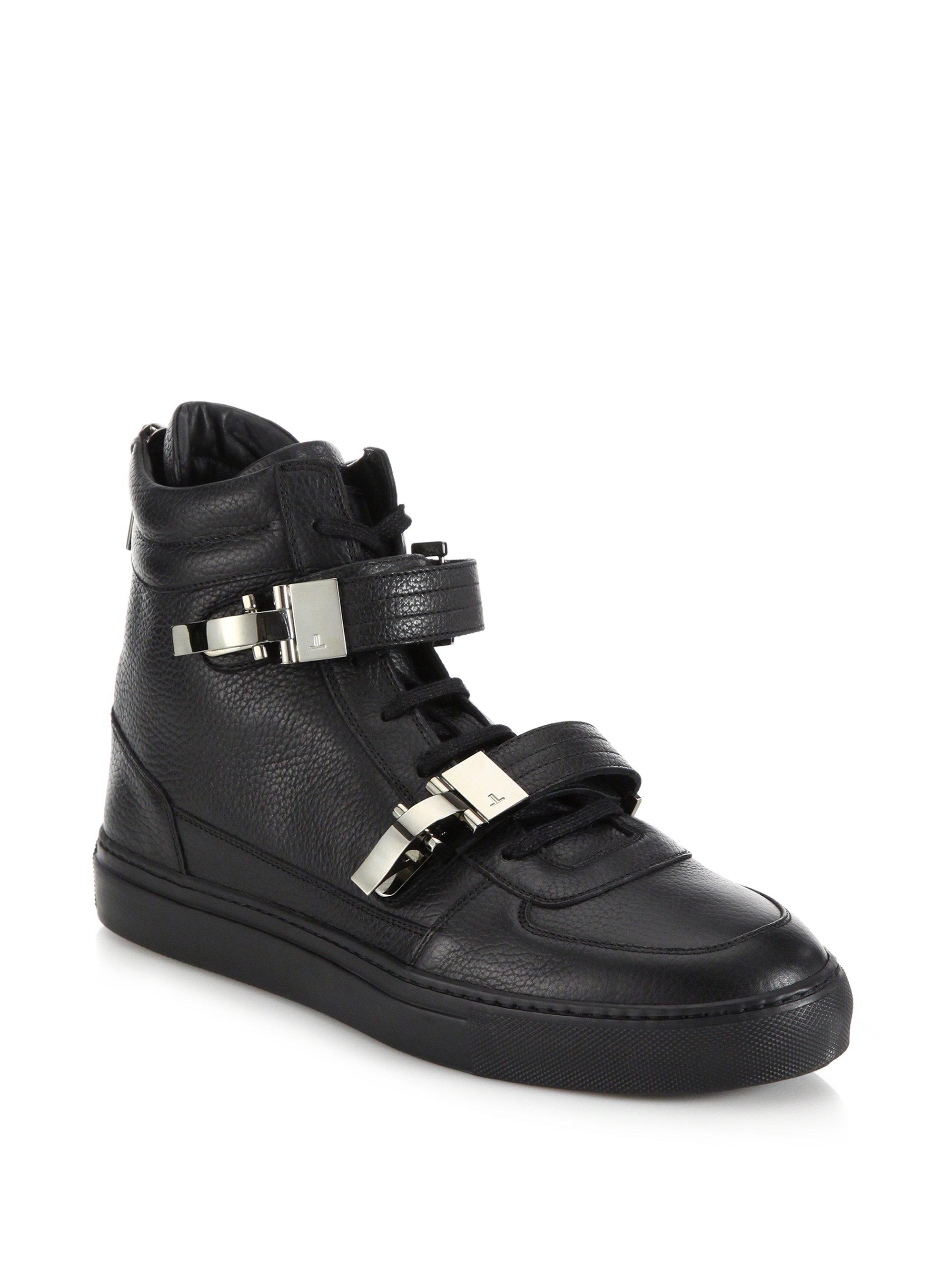 Lyst Louis Leeman Double Buckle Leather High Top