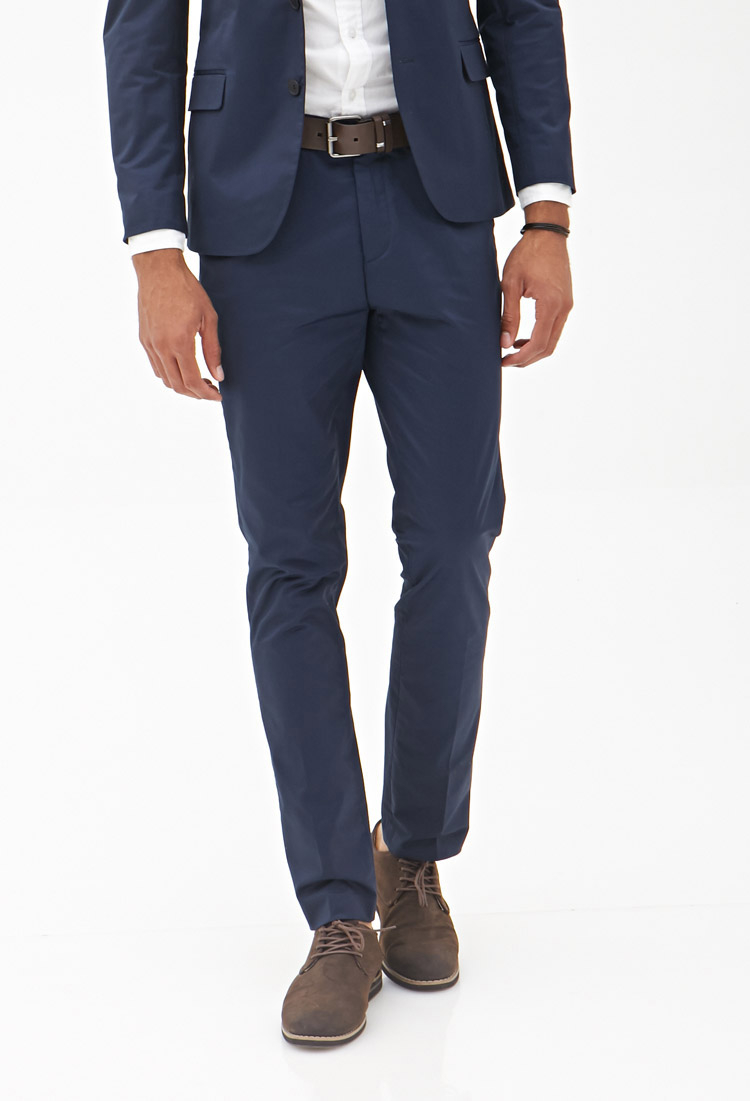 Forever 21 Twill Dress Pants in Blue for Men | Lyst