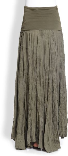 Silk Broomstick Skirt 38