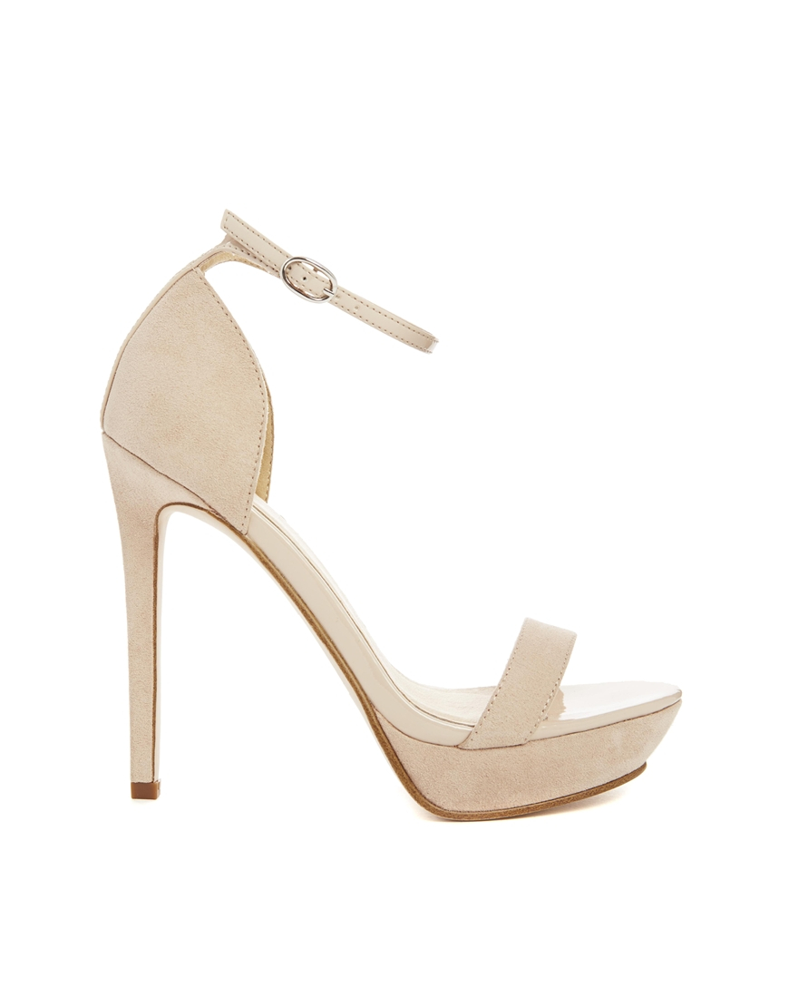 021df0fe436 Lyst - ASOS Heiress Heeled Sandals in Natural