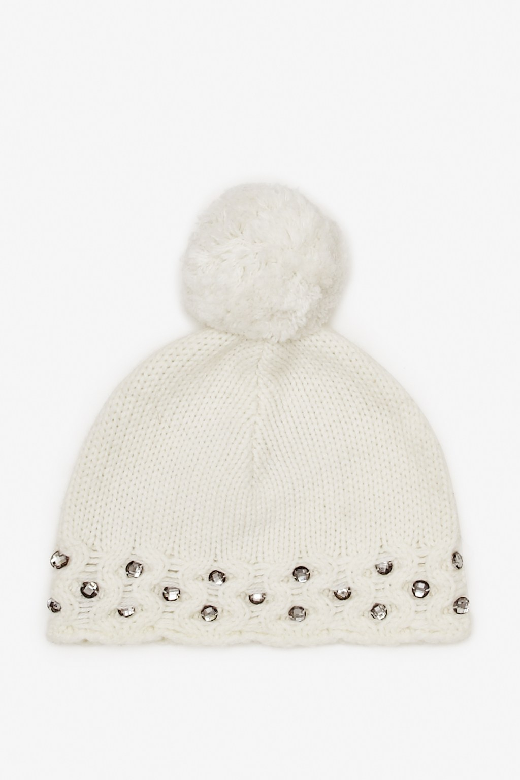 790ee7a4859 Lyst - French Connection Lily Beaded Bobble Hat in White