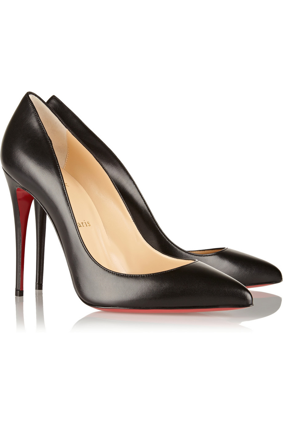 promo code 74fe2 582a6 Christian Louboutin Black Pigalle Follies 100 Leather Pumps