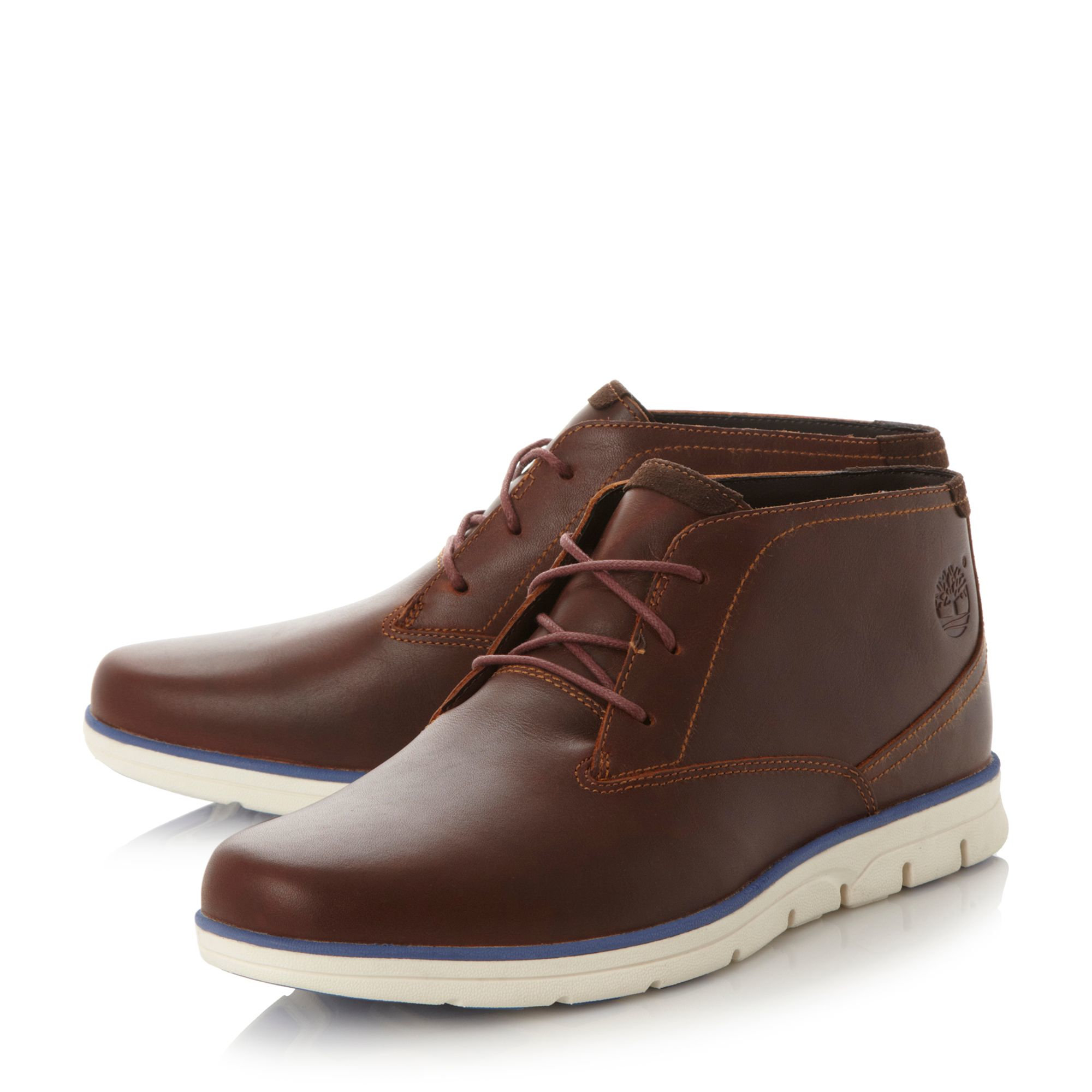 timberland a11br white wedge sole chukka boots in brown