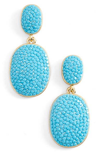Kate spade new york \'pave The Way\' Drop Earrings - Turquoise in ...