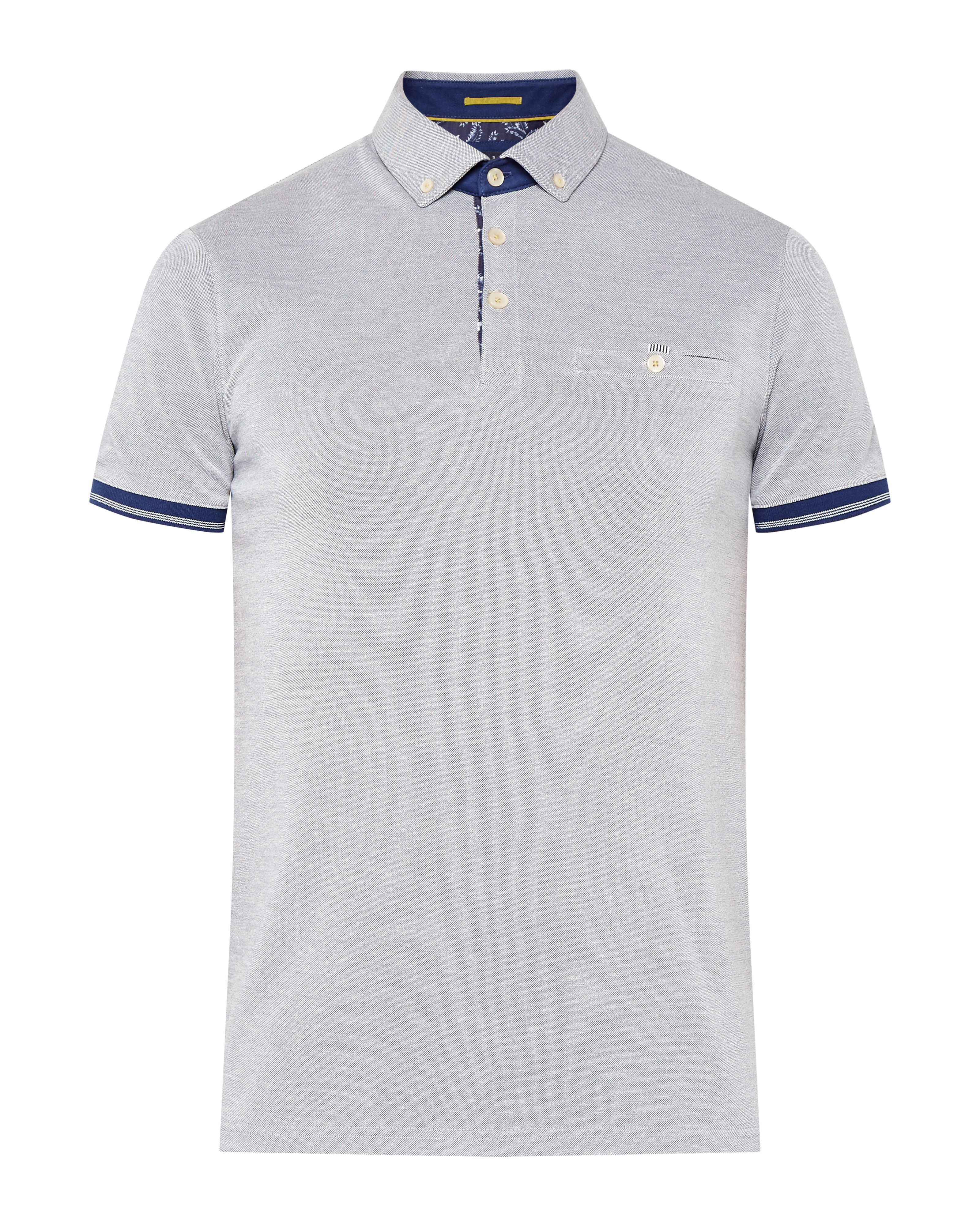 Lyst ted baker abadaba oxford polo shirt in blue for men for Ted baker mens polo shirts