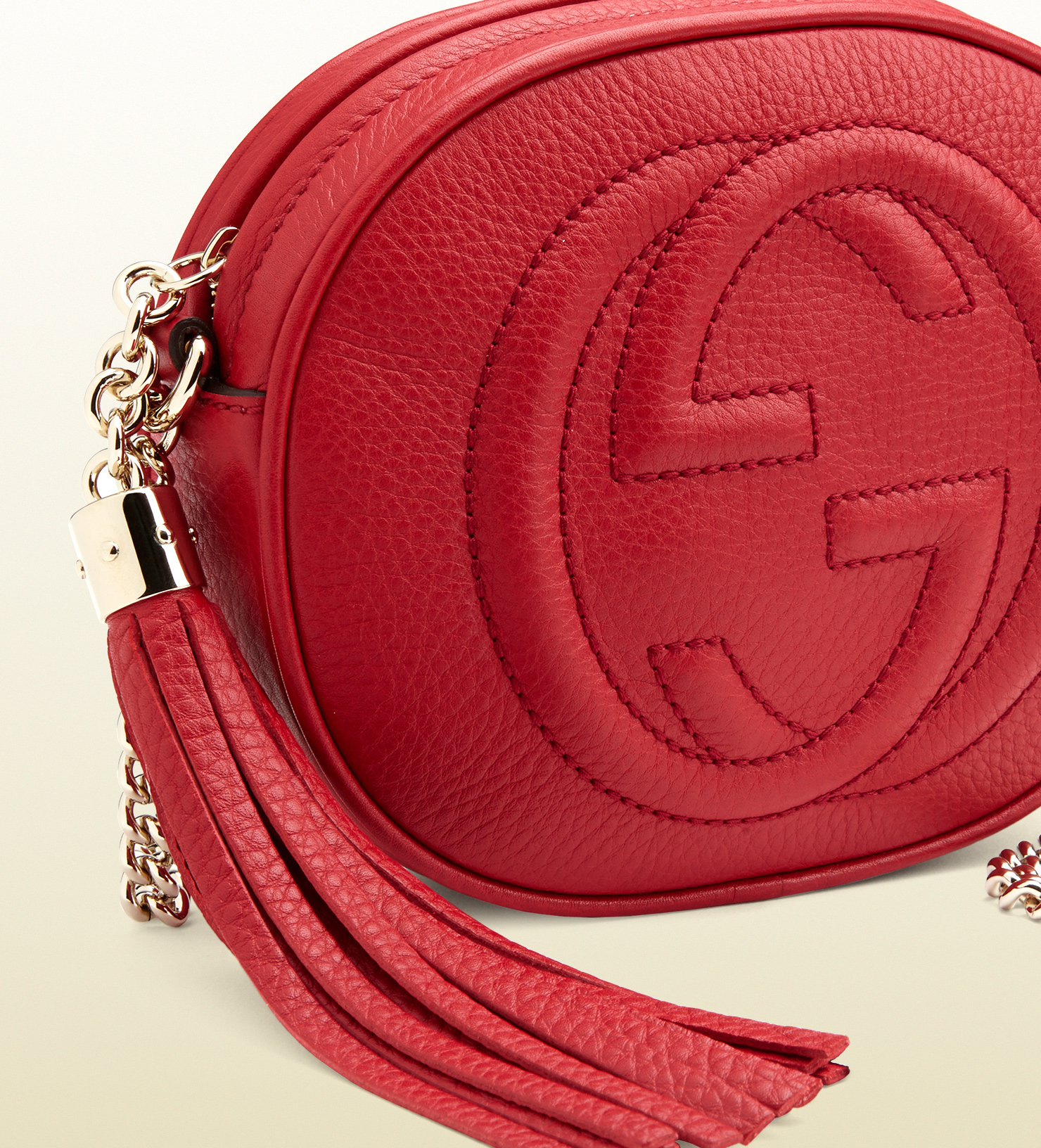 53ab43aa Women's Red Soho Leather Mini Chain Bag