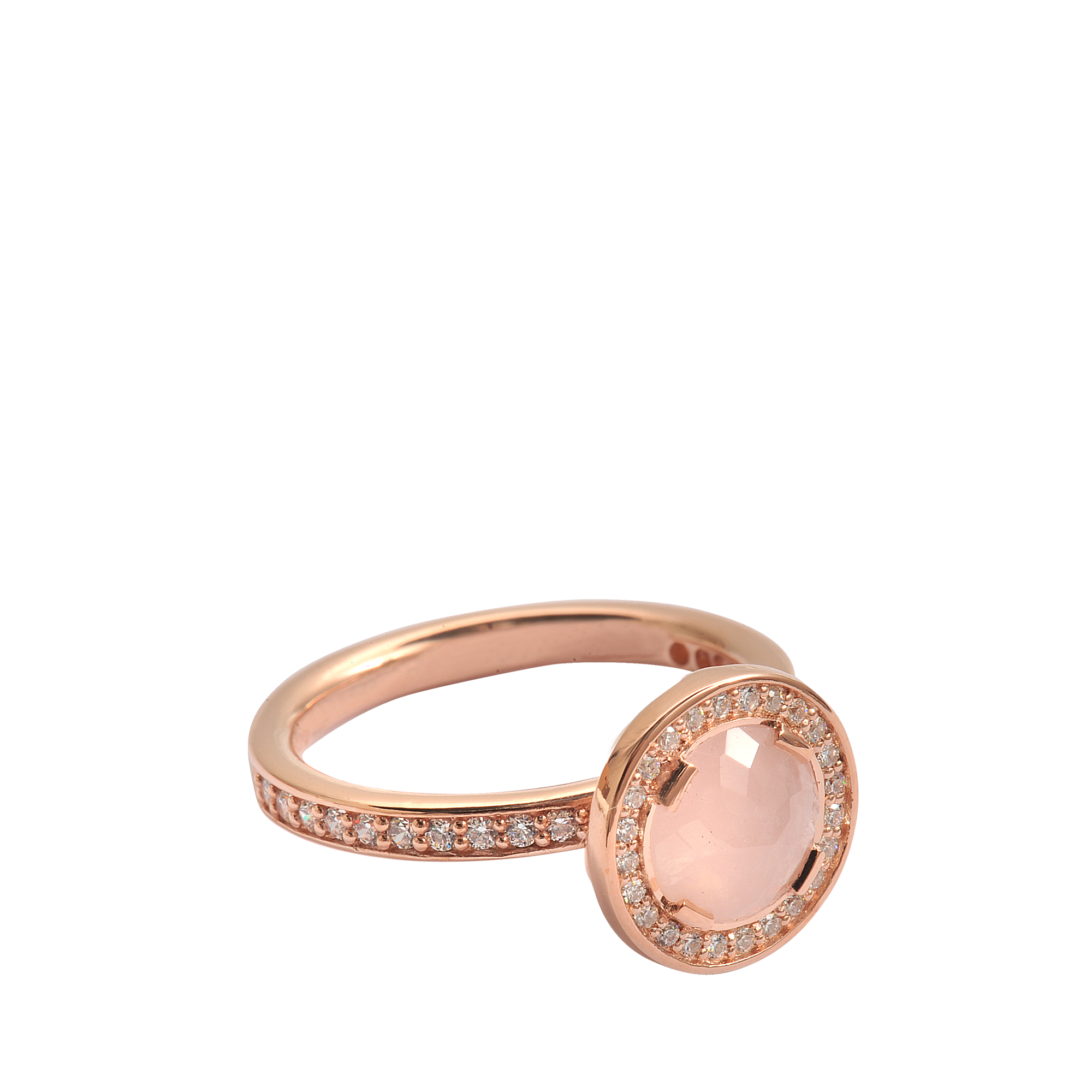 thomas sabo diana sterling silver ring in pink lyst