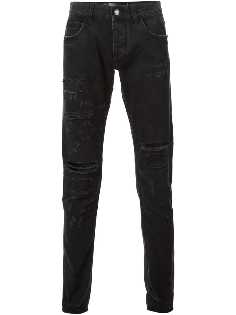 dolce gabbana 39 14 gold collection 39 jeans in black for. Black Bedroom Furniture Sets. Home Design Ideas