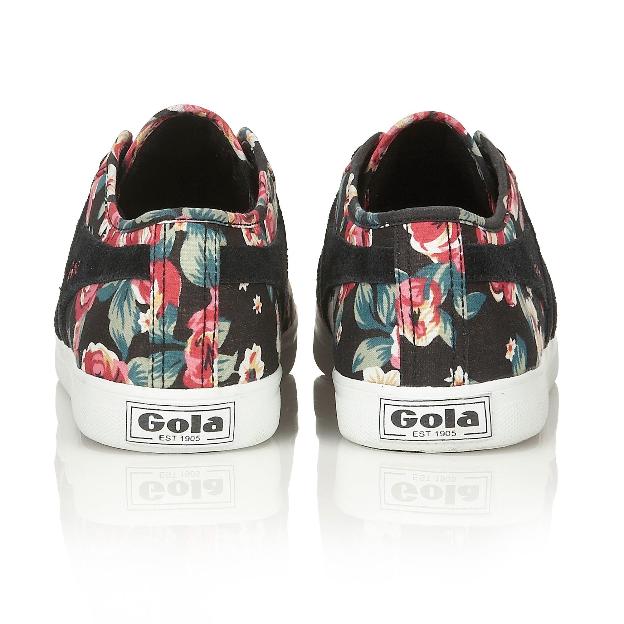 Gola Jasmine Floral Trainers in Black