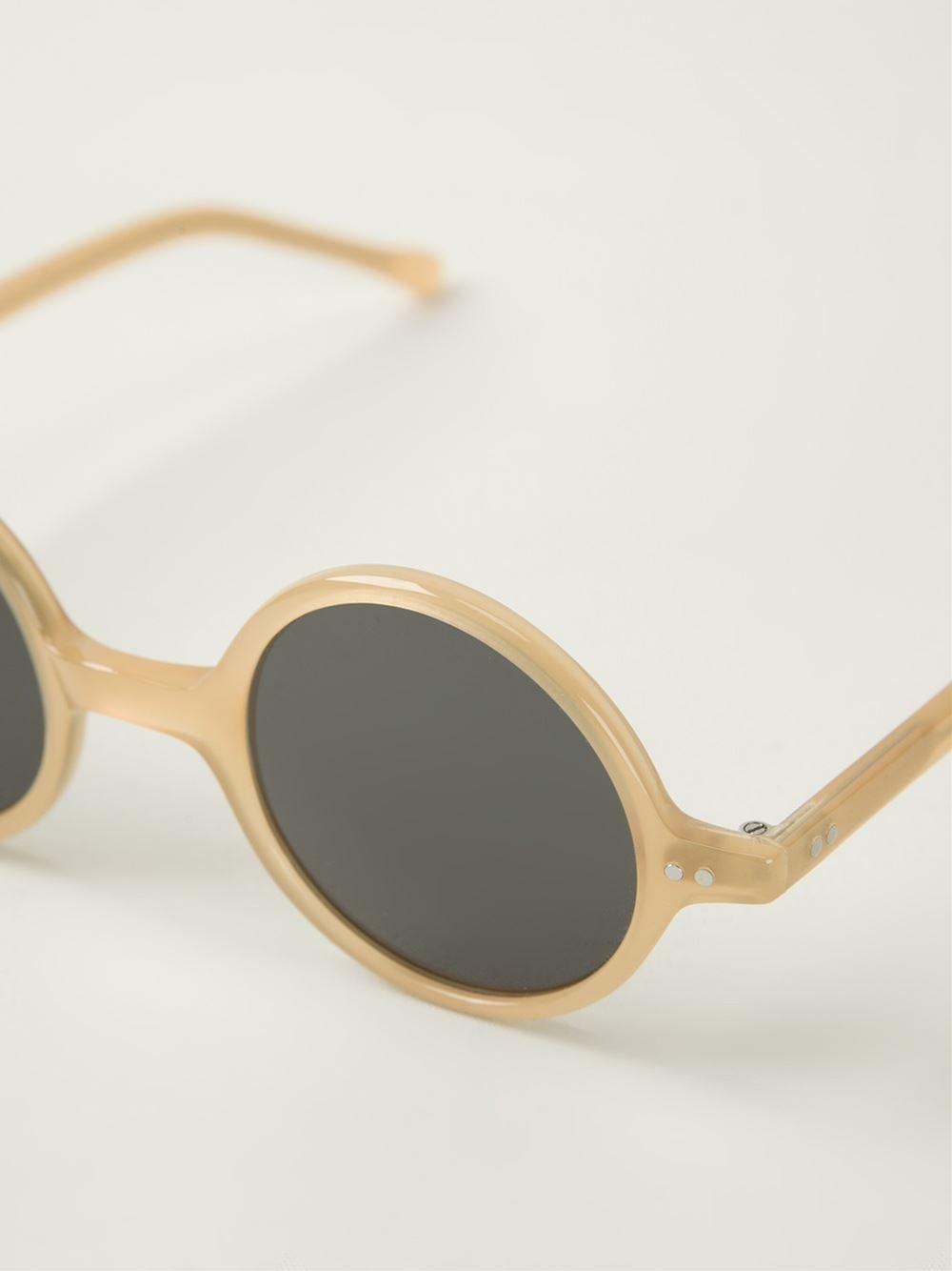 Small Frame Aviator Sunglasses  lesca small round frame sunglasses lyst