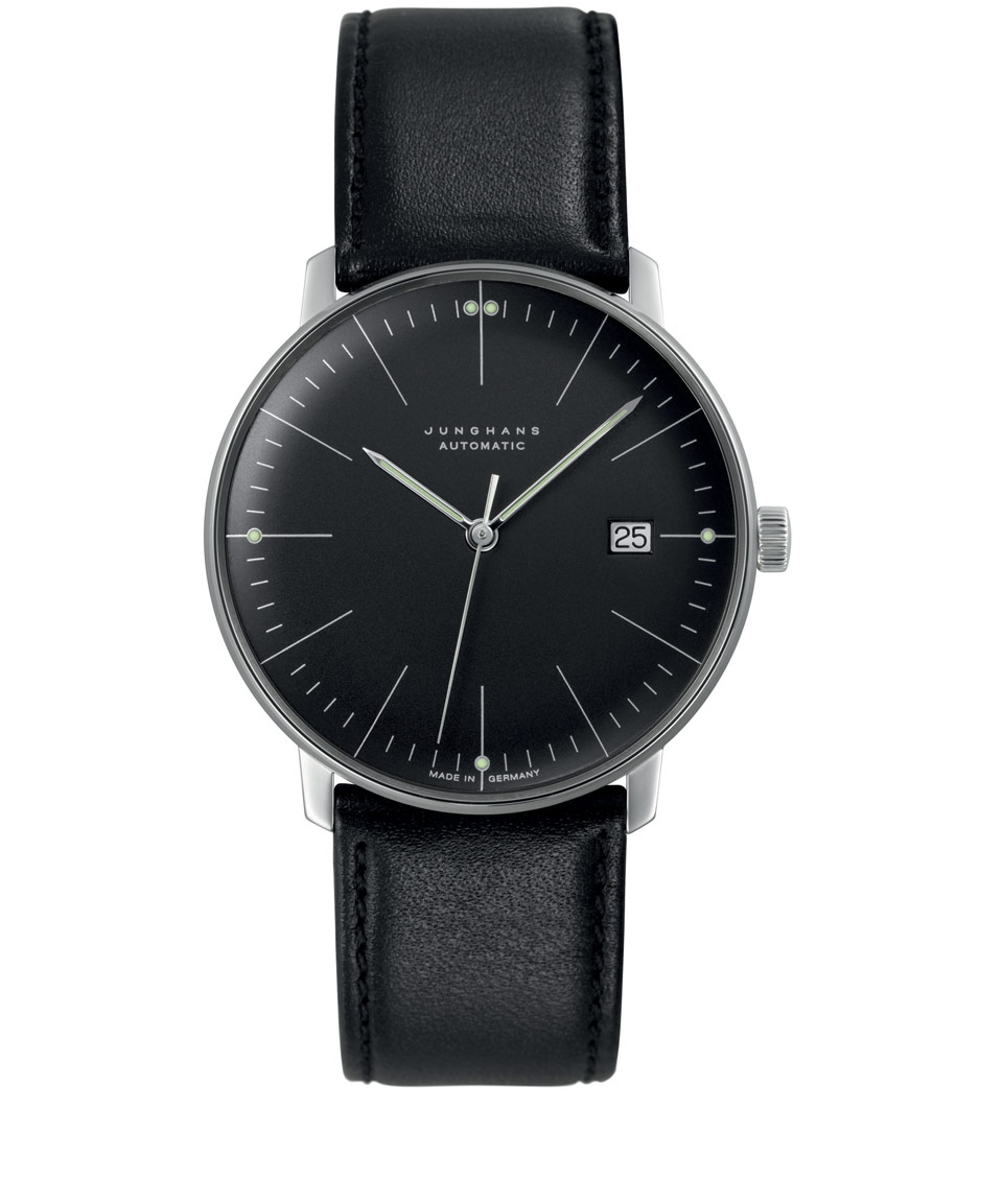 junghans matte black max bill automatic watch in black for men lyst gallery
