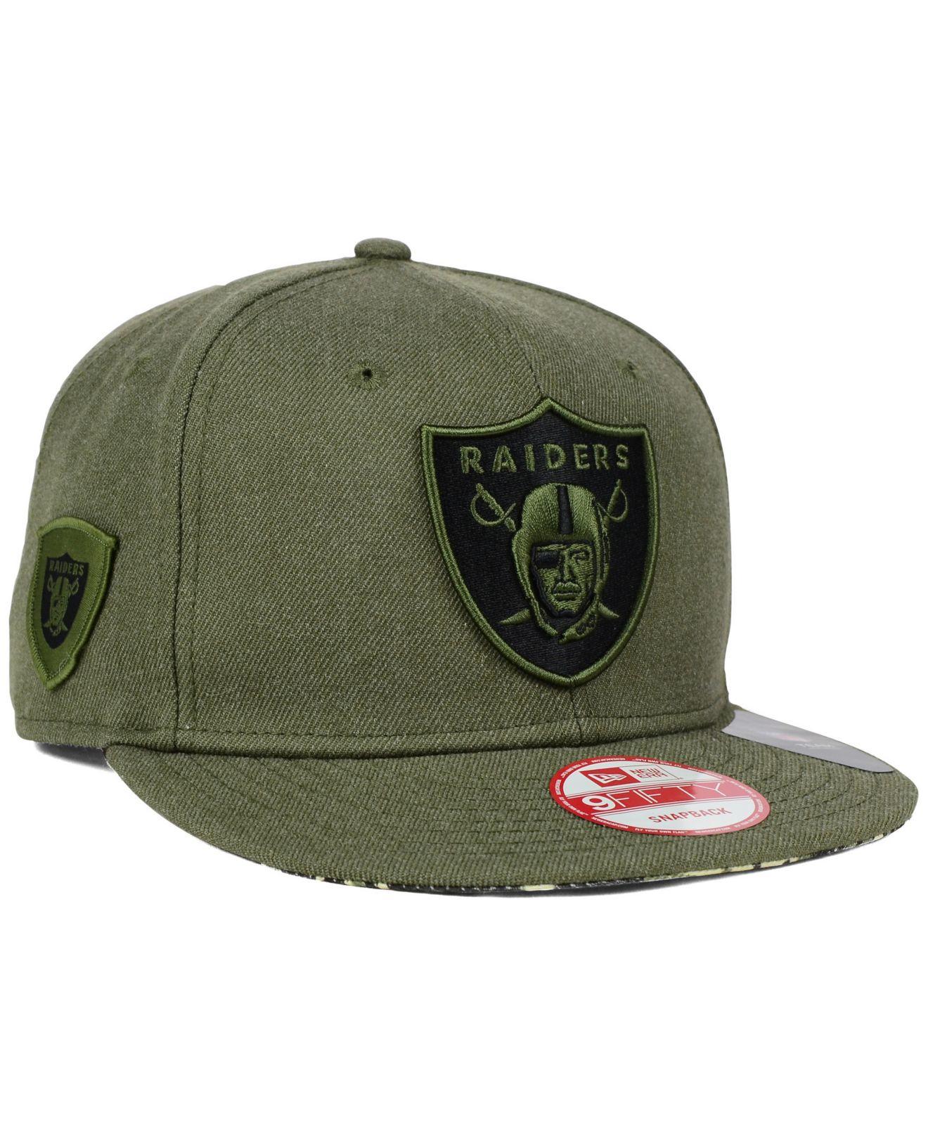 Lyst - KTZ Oakland Raiders Camo 9fifty Snapback Cap in Green for Men a2d17c1ffb1