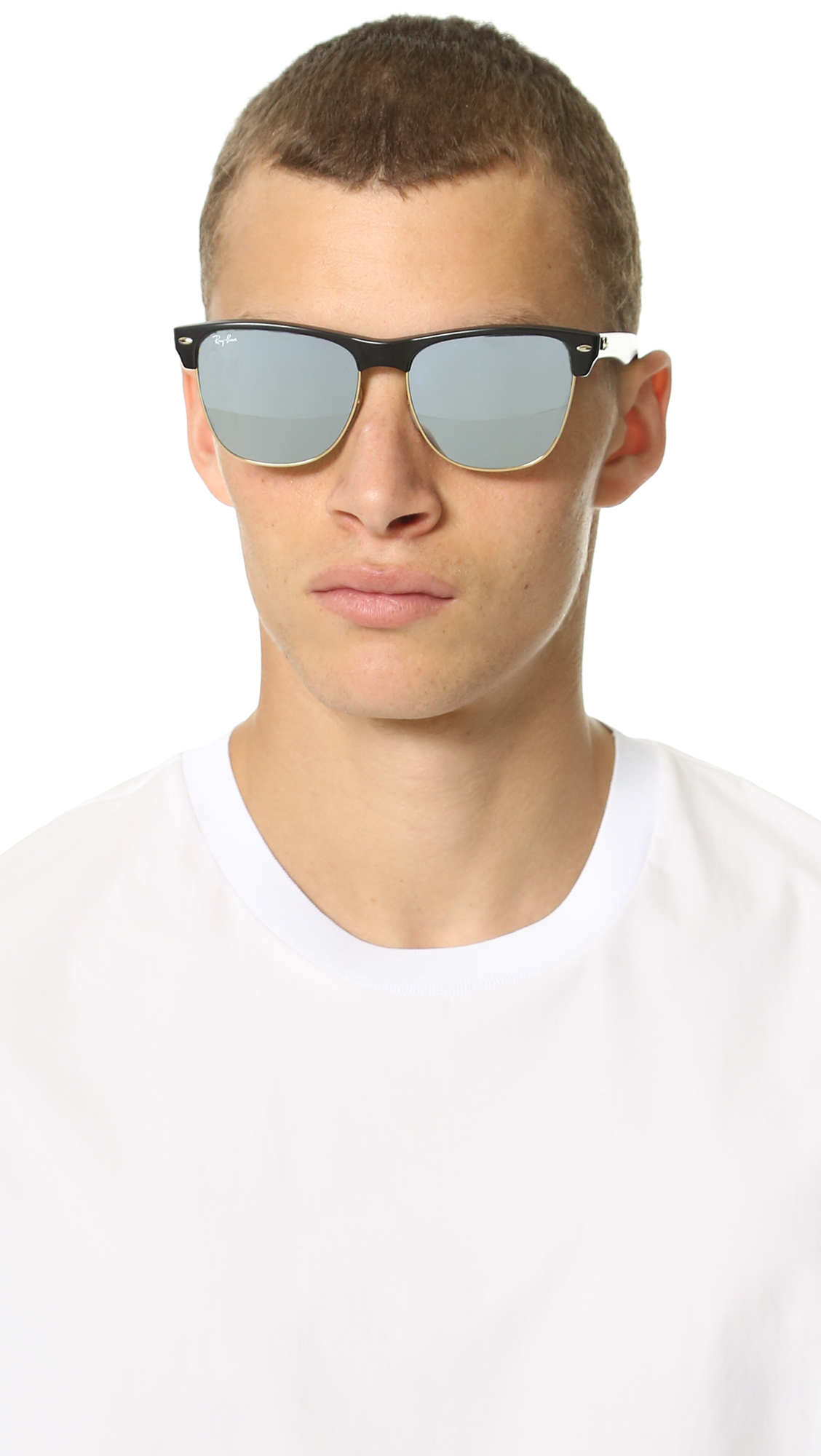 ray ban mirrored clubmaster sunglasses  gallery. previously sold at: east dane · men's ray ban clubmaster