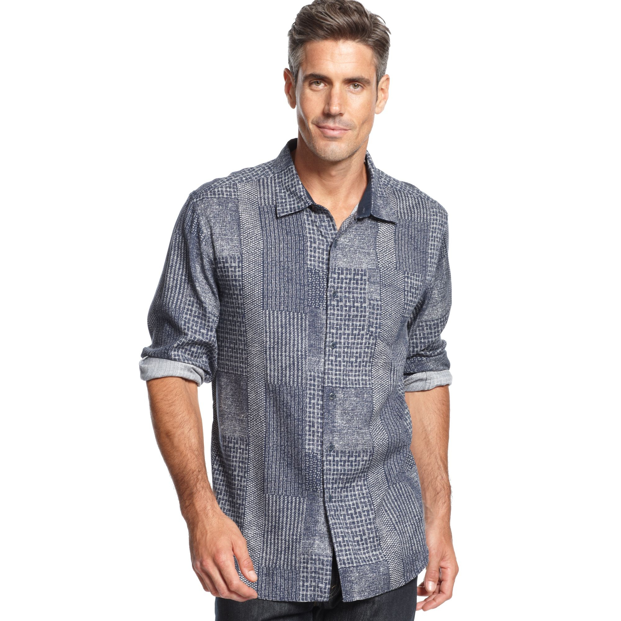 Lyst Tommy Bahama Longsleeve Indigo Crush Shirt In Blue
