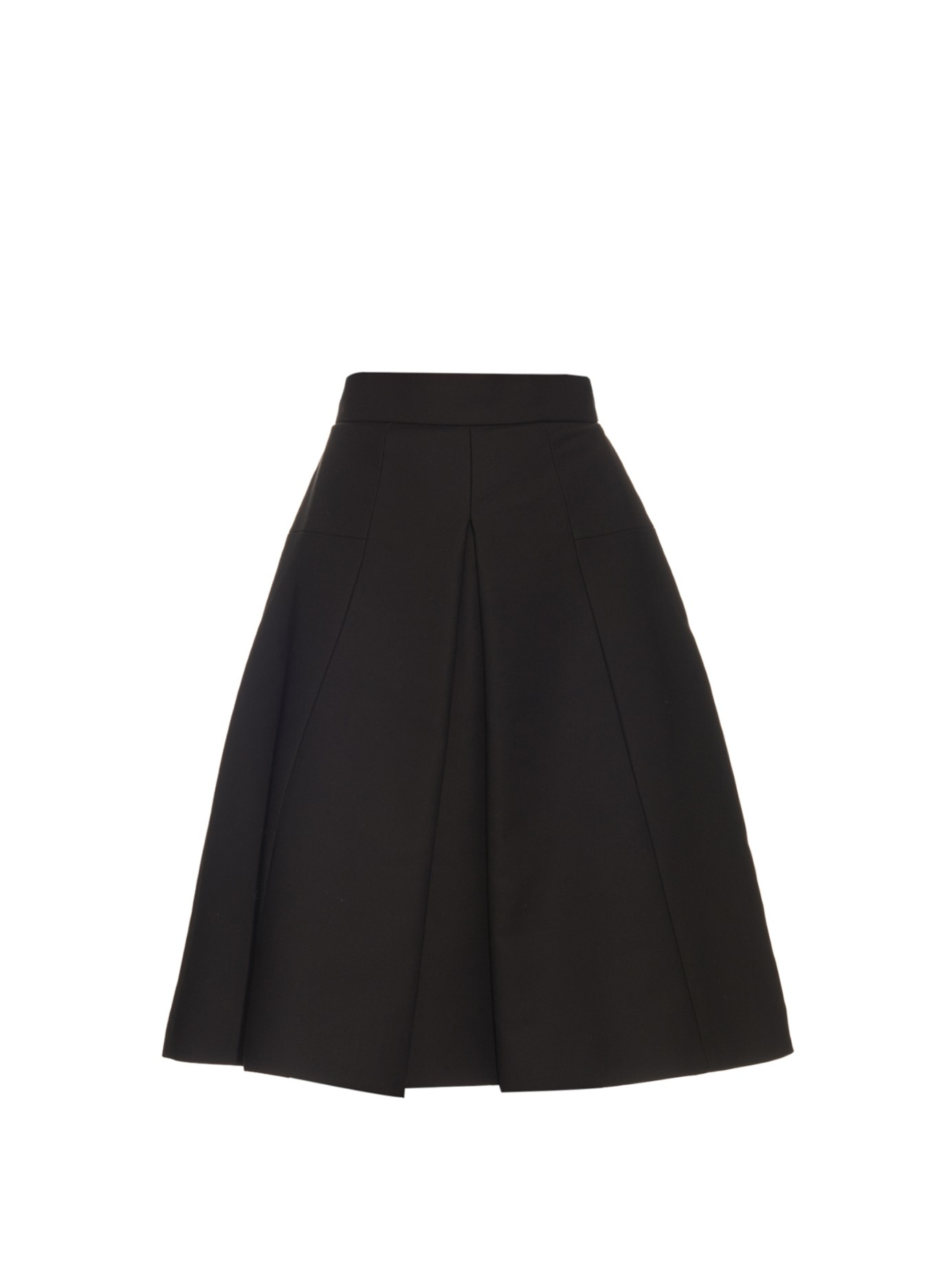 mcqueen pleated cotton a line skirt in