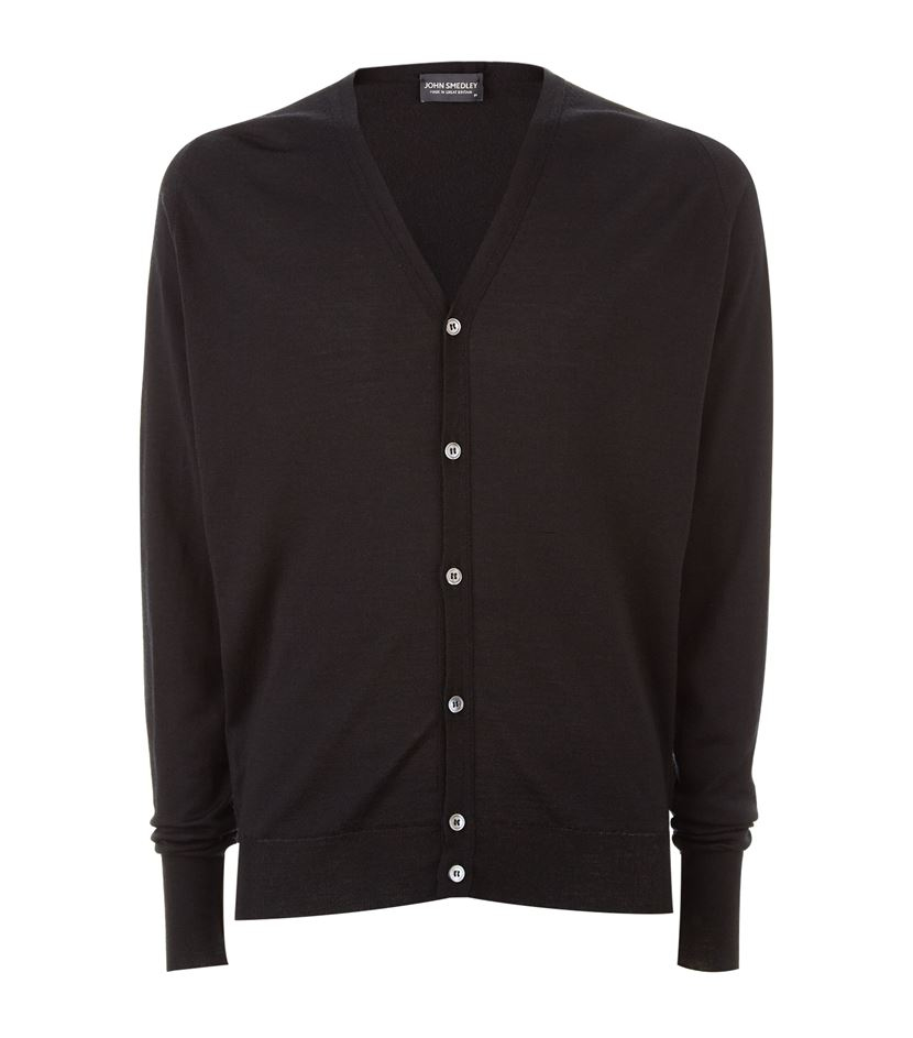 7d67215703 John smedley Button-up Cardigan in Black for Men
