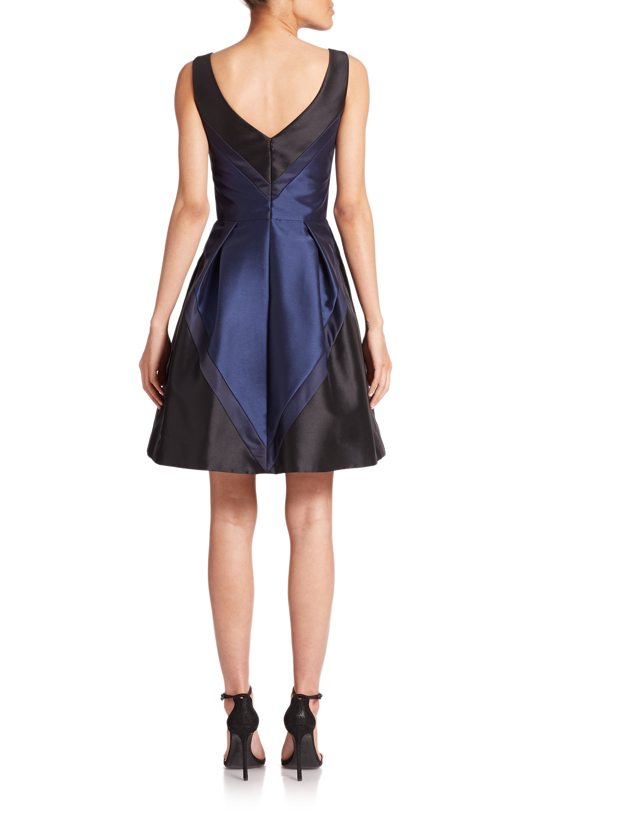 Color block cocktail dress