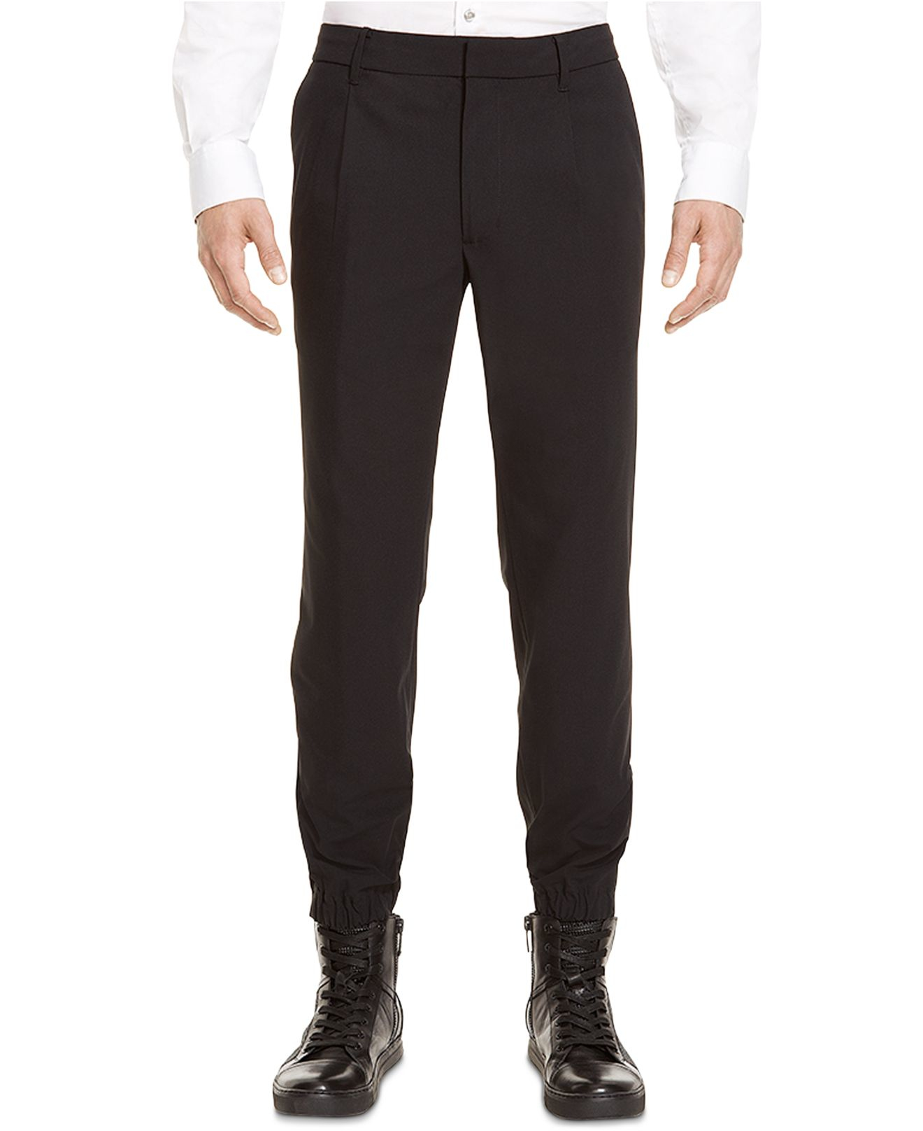 Kenneth cole Dress Jogger Pants in Black for Men | Lyst