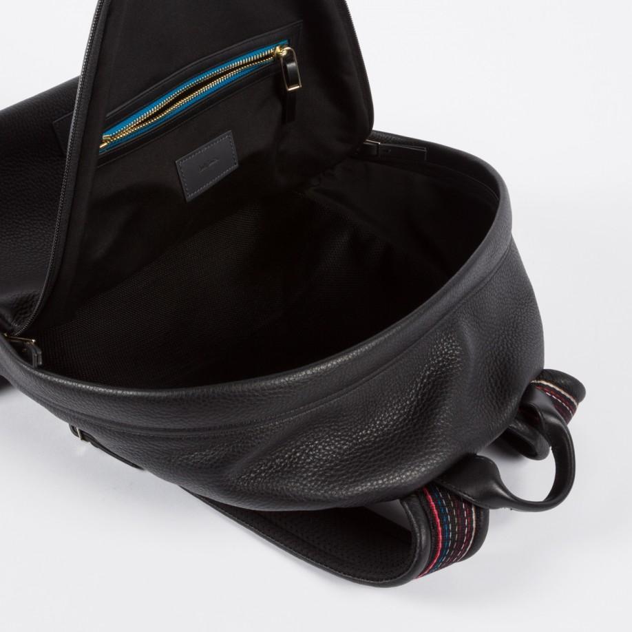 Paul Smith Men's Black 'city Webbing' Backpack for Men