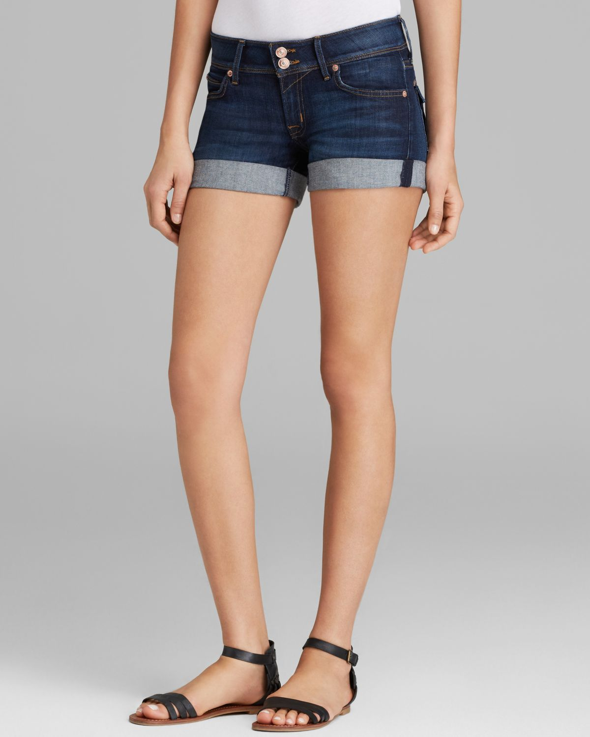 Hudson jeans Croxley Mid Thigh Shorts In Iconic in Blue | Lyst
