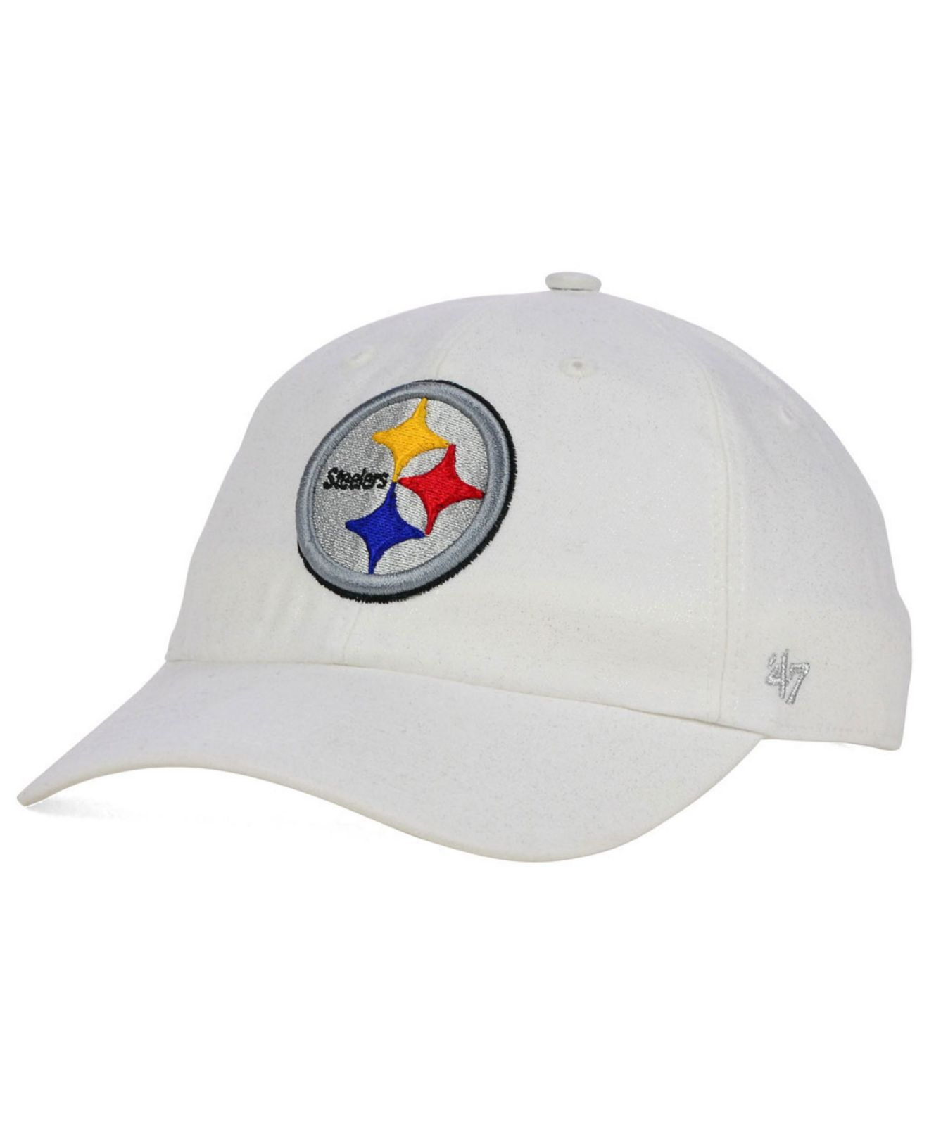 promo code 11243 3e7c1 ... ireland lyst 47 brand womens pittsburgh steelers luster clean up cap in  white c69c4 62593
