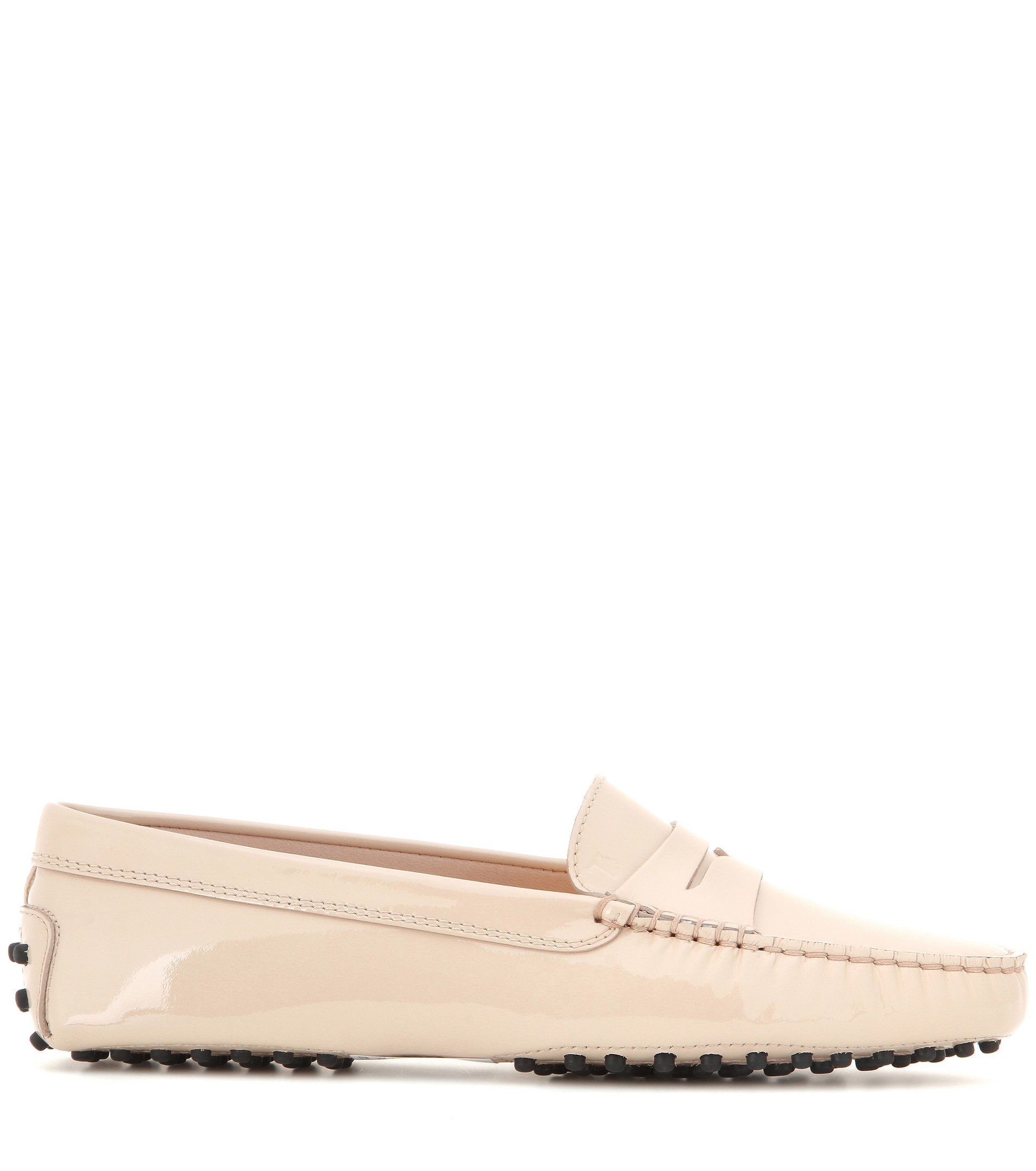 Gommini Leather Loafers Natural Tod's Patent 6gbf7yYv