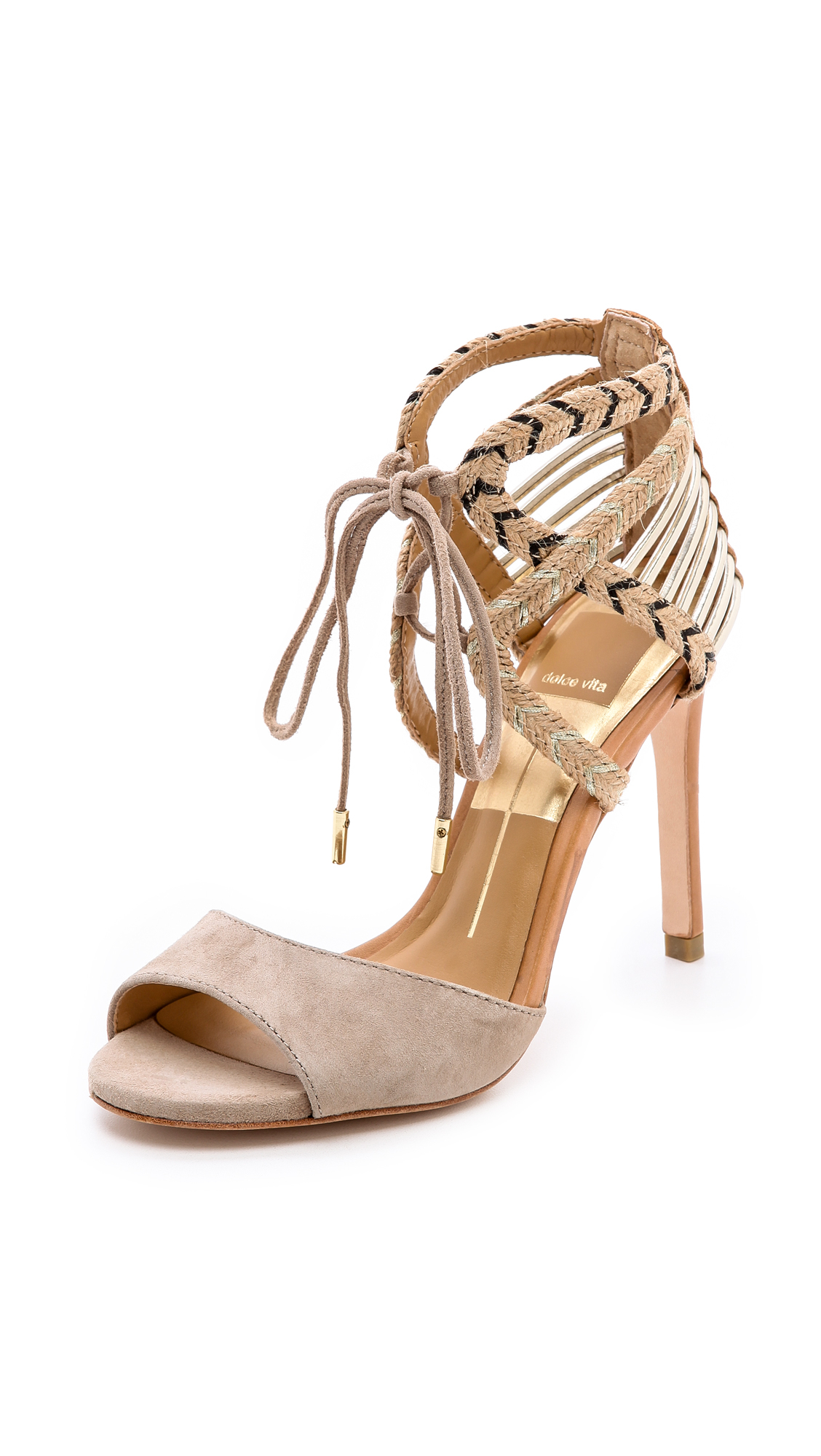 Dolce Vita Womens Bagley Sandal in Nude (Natural) - Lyst