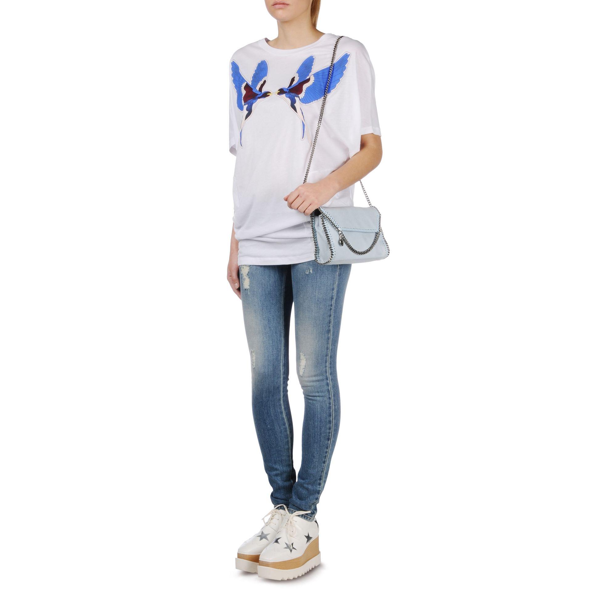 43aa75a35ce1 Lyst - Stella McCartney Falabella Shaggy Deer Mini Bag in Blue