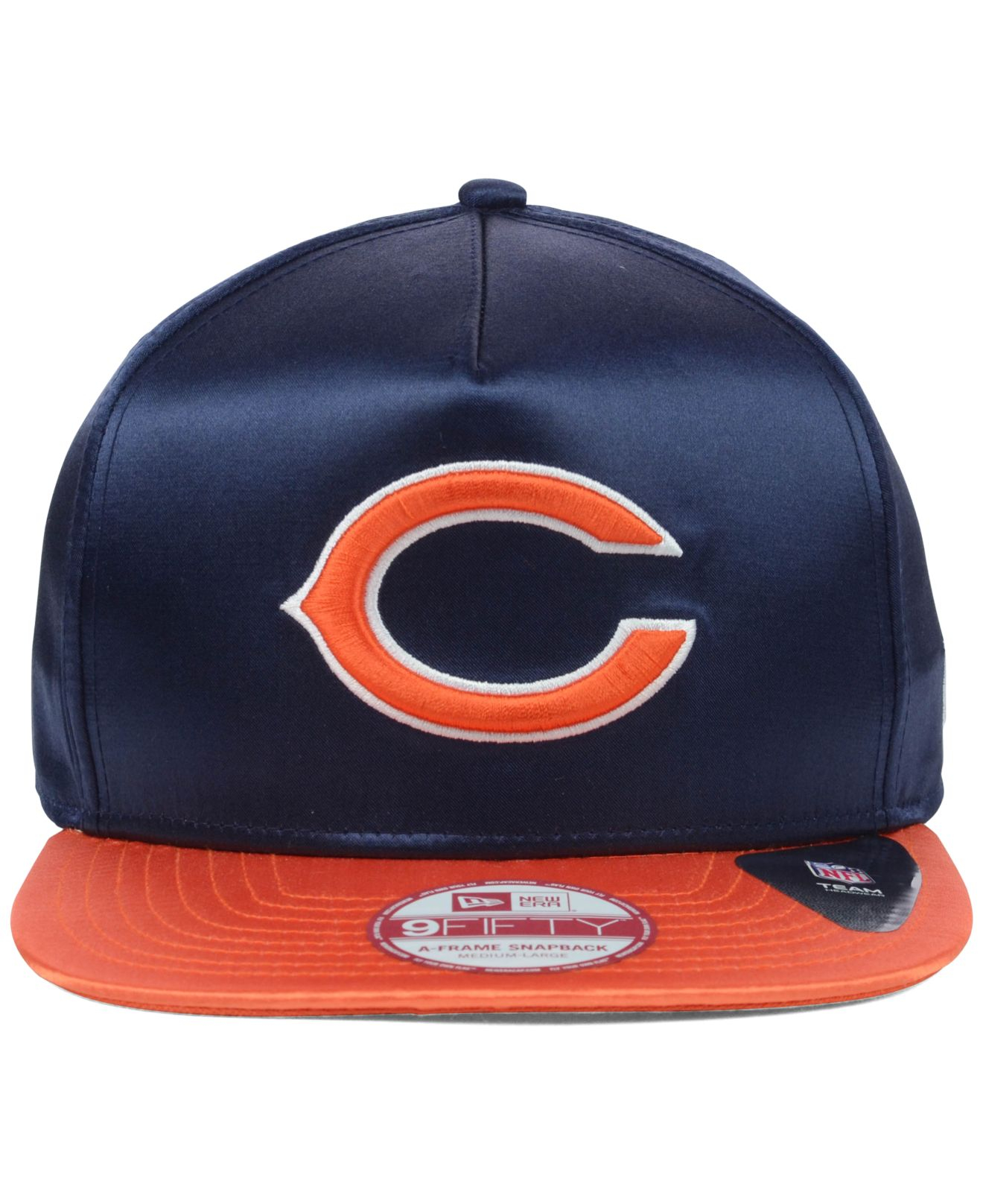 Lyst - Ktz Chicago Bears Satin A-Frame 9Fifty Snapback Cap in Blue ...