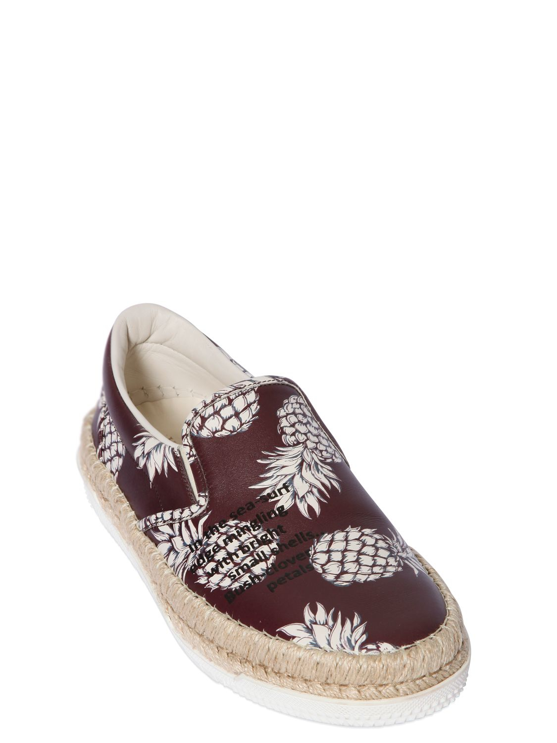 Lyst Valentino Pineapple Leather Espadrille Sneakers In