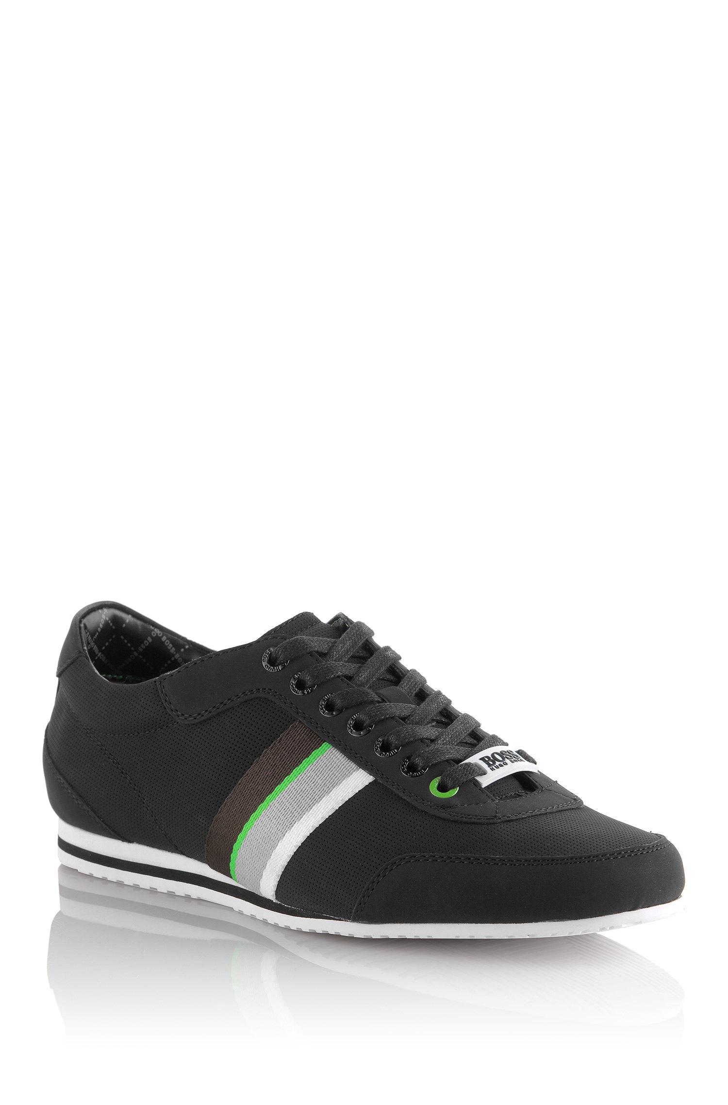 boss green suede sneakers 39 eldorado suede 39 in black for men lyst. Black Bedroom Furniture Sets. Home Design Ideas