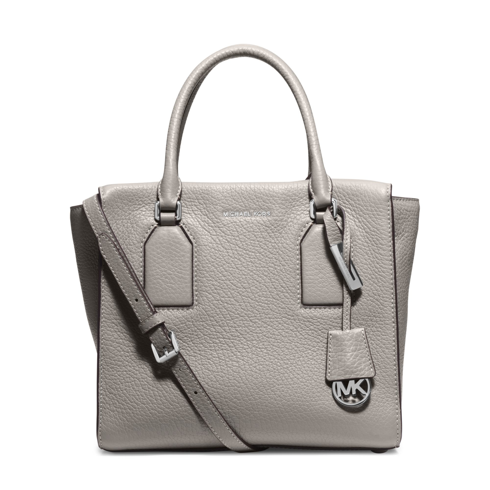 3eac6b8f3666 Lyst - Michael Kors Selby Large Leather Satchel in Gray