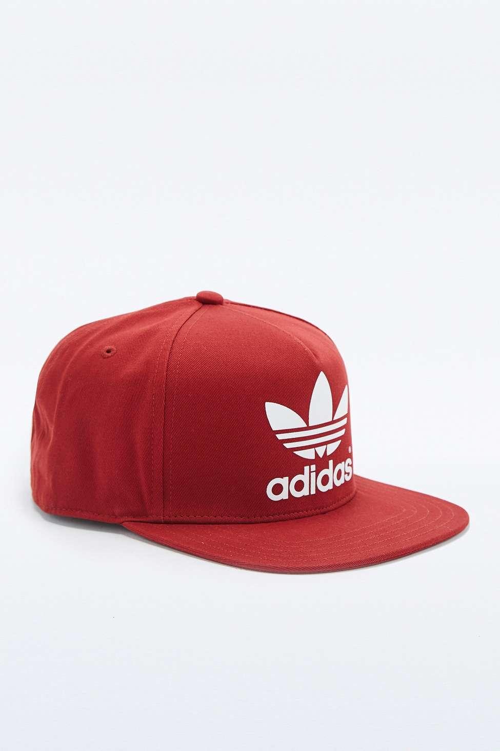 adidas Trefoil Burgundy Snapback Cap in Red for Men - Lyst 3b16ac66ba6