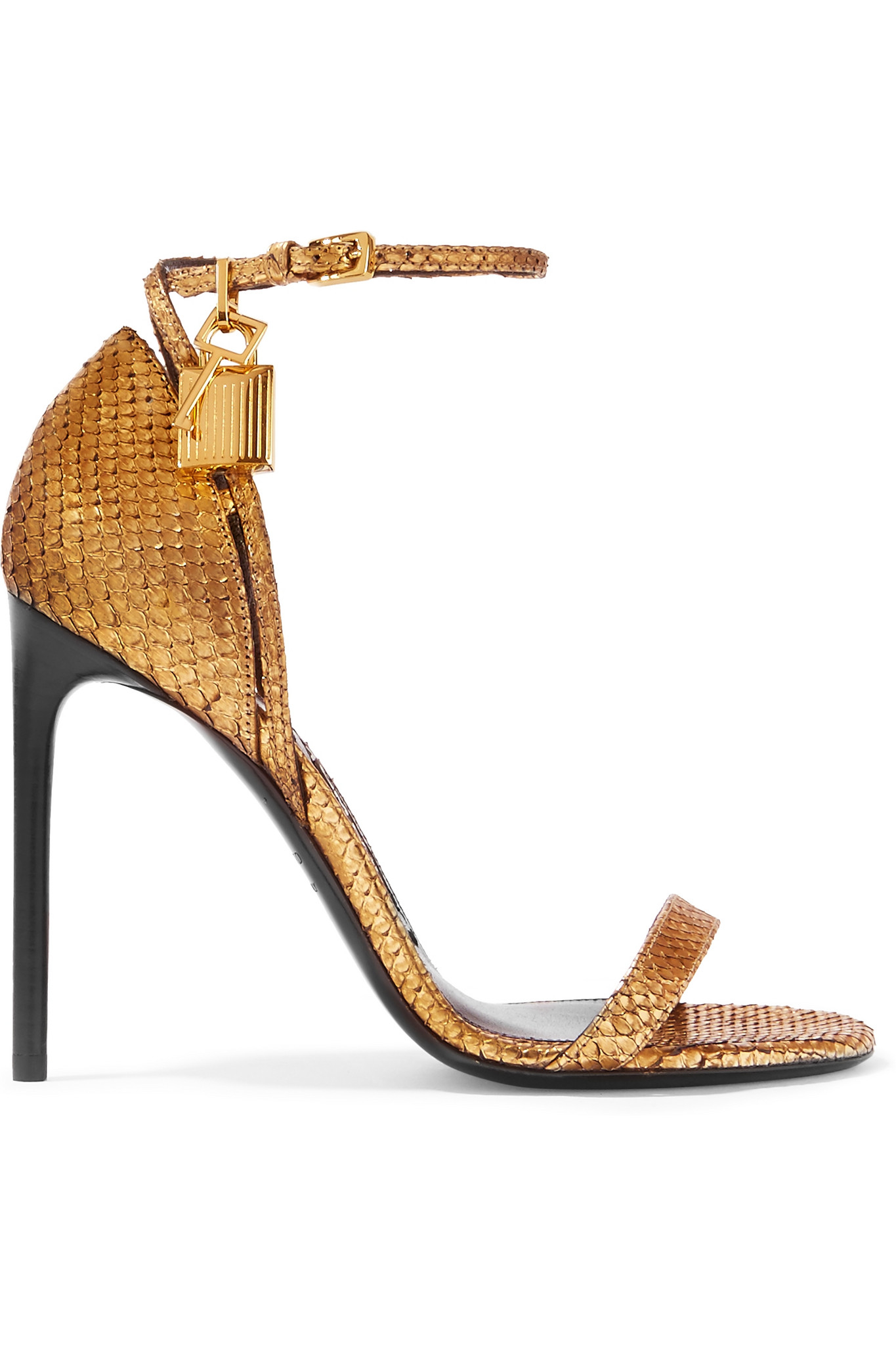 49593dce1e Tom Ford Python Sandals in Metallic - Lyst