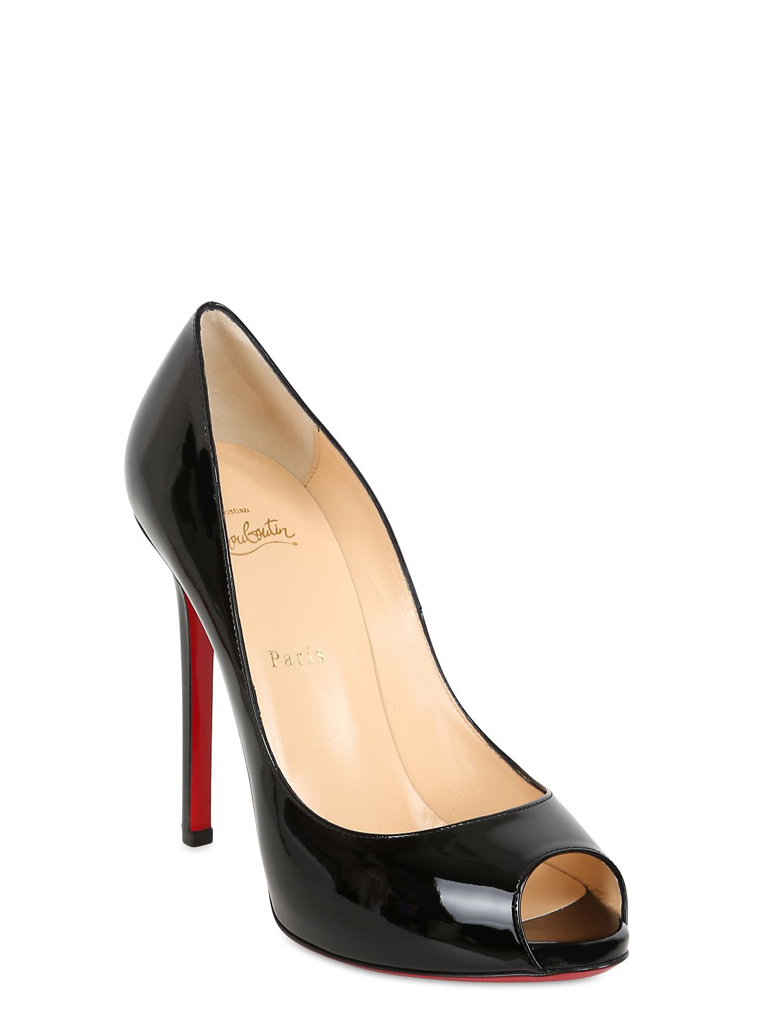 christian louboutin patent leather new simple 120 pumps