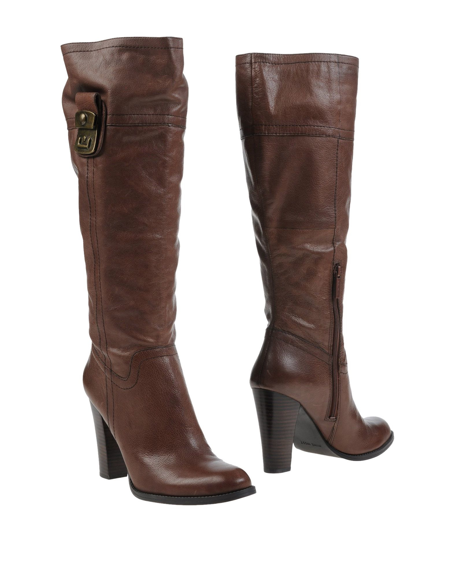 nine west boots in brown lyst