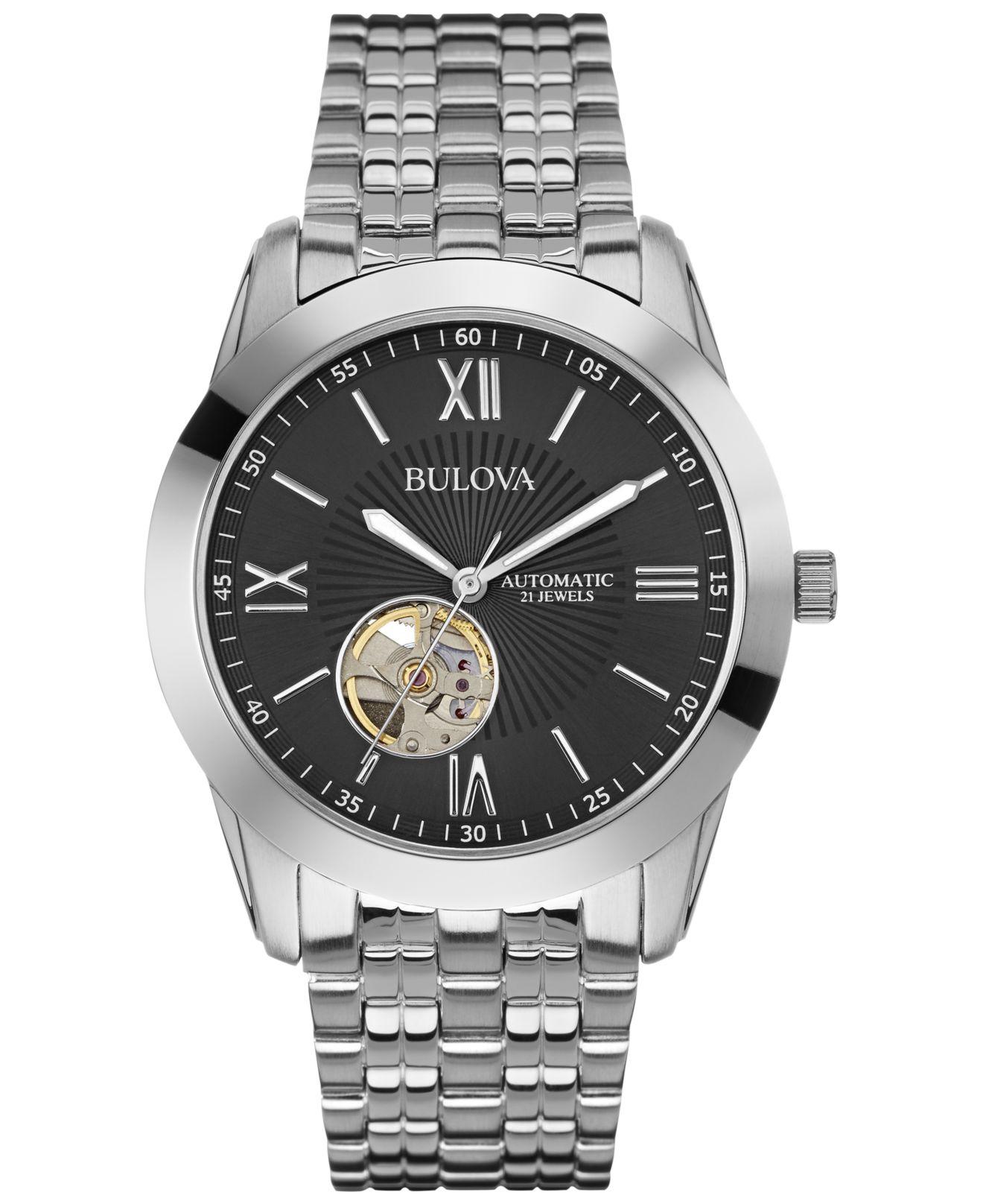 bulova s automatic stainless steel bracelet 42mm