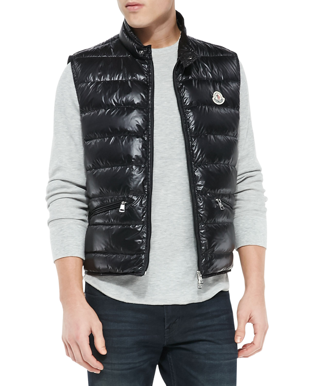 Moncler Gui Quilted Puffer Vest in Black for Men | Lyst