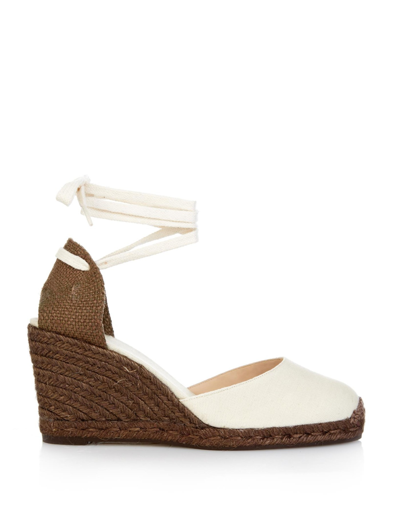 b658aa055e32 Lyst - Castaner Carina Espadrille Wedges in White