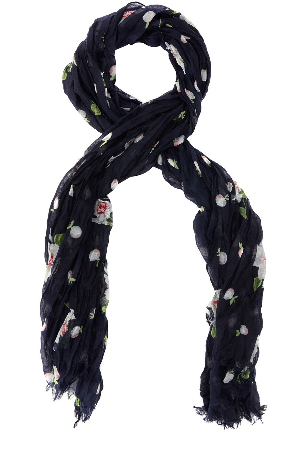 oasis blossom spot scarf in blue lyst