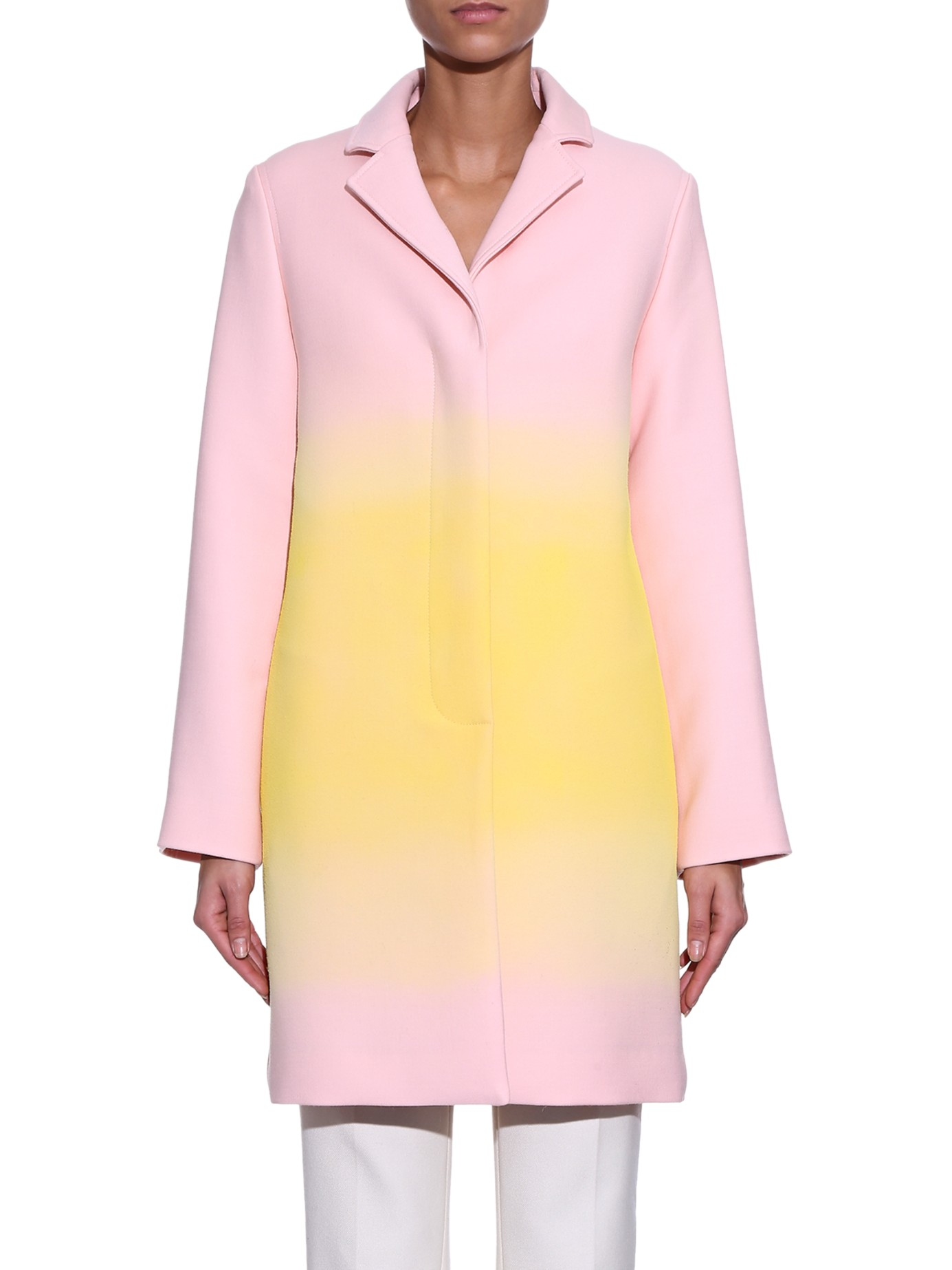Jonathan Saunders Clere Ombr 233 Single Breasted Coat In Pink