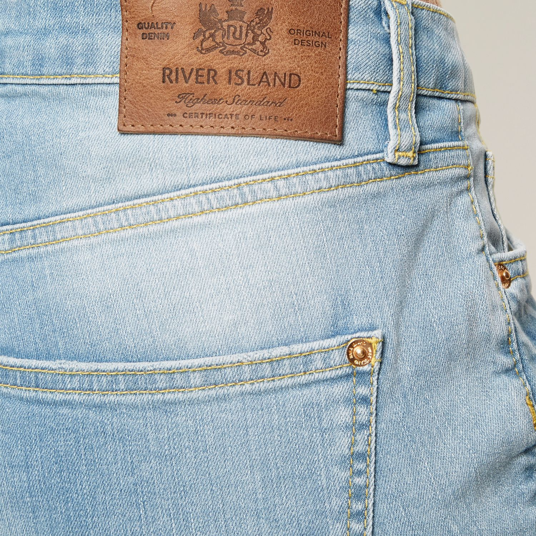 River Island Light Wash Ashley Boyfriend Jeans in Blue