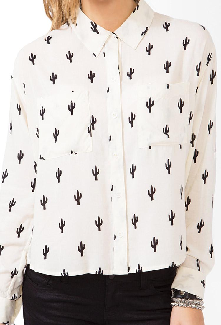 Cream Long Sleeve Blouse