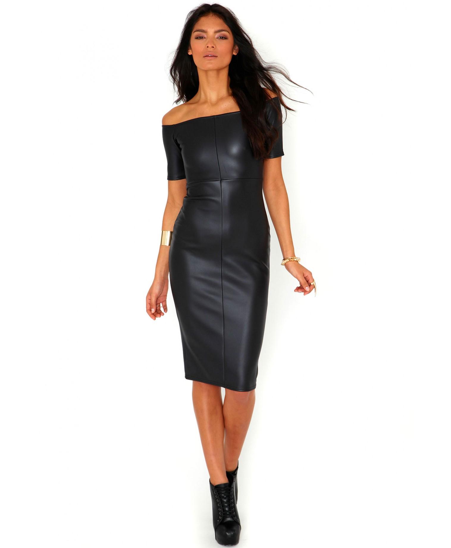 Midi Leather Dresses