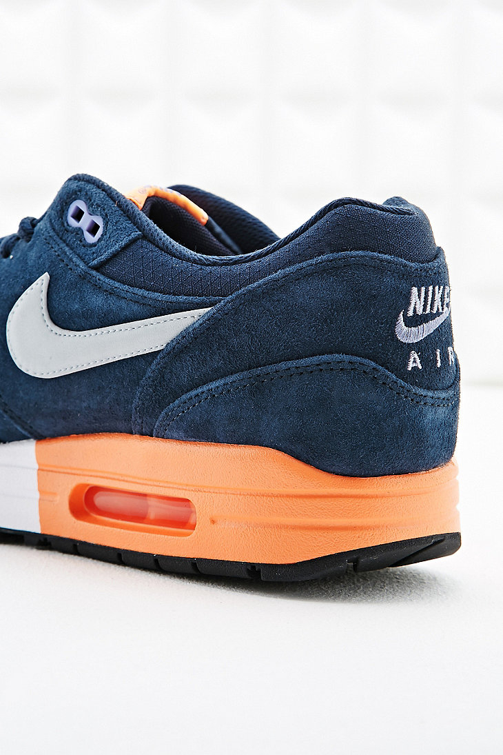 b96342fbe3 ... wholesale nike air max 1 premium suede trainers in navy in blue for men  lyst 22095