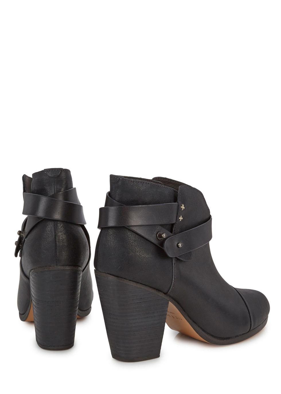 rag bone classic harrow black leather ankle boots in