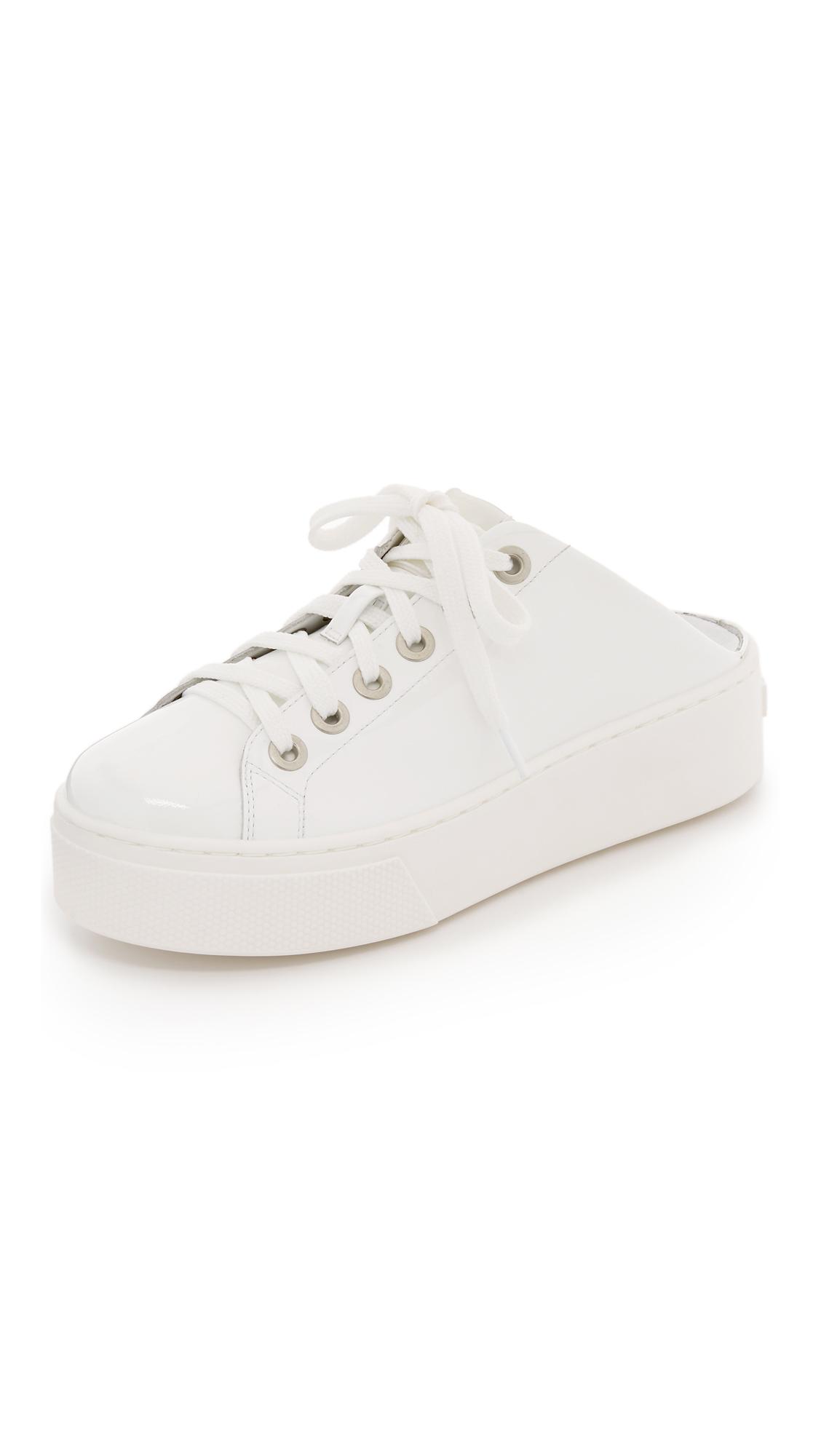 KENZO Leather Platform Sneaker Slides