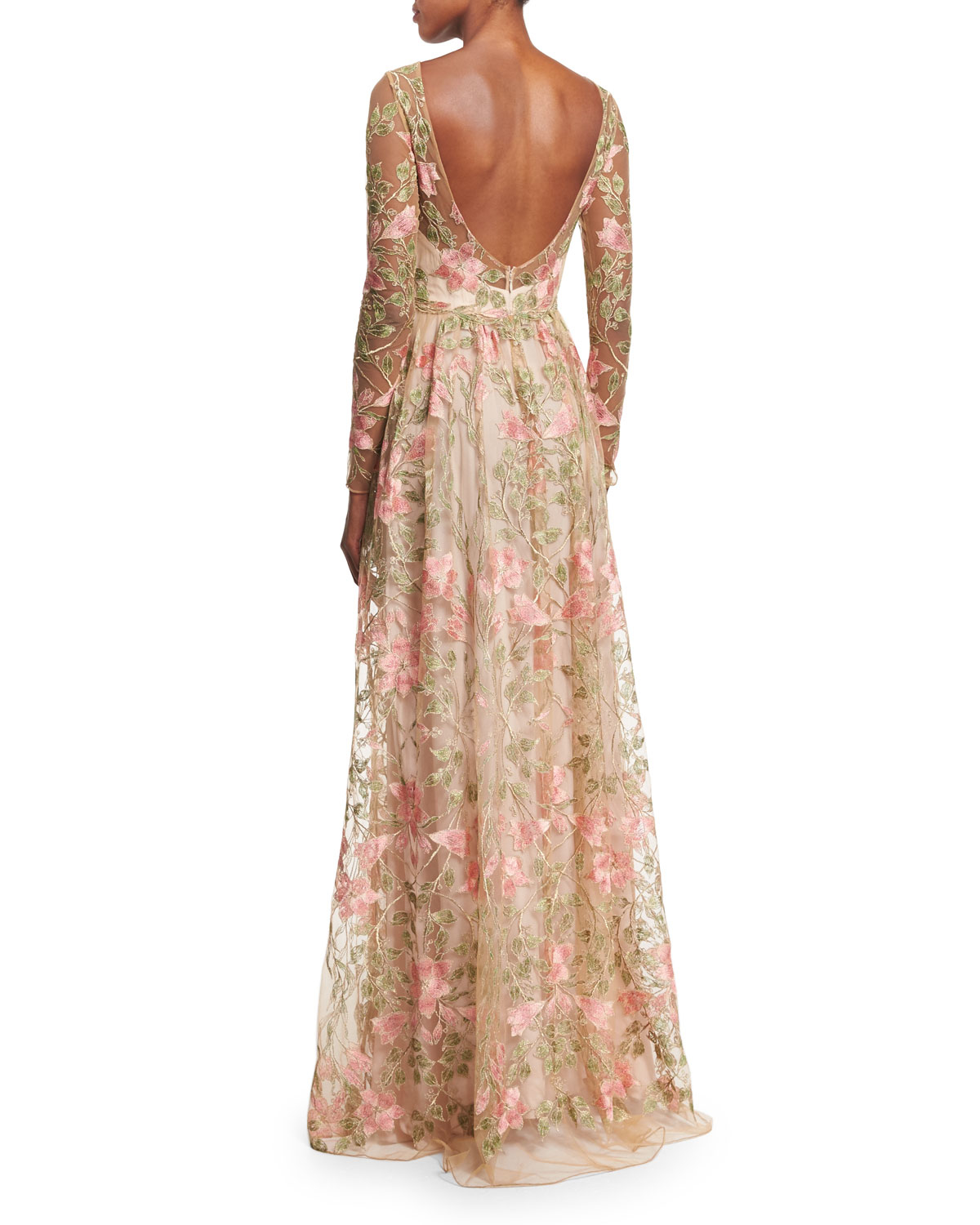 Notte by marchesa floral embroidered gown lyst