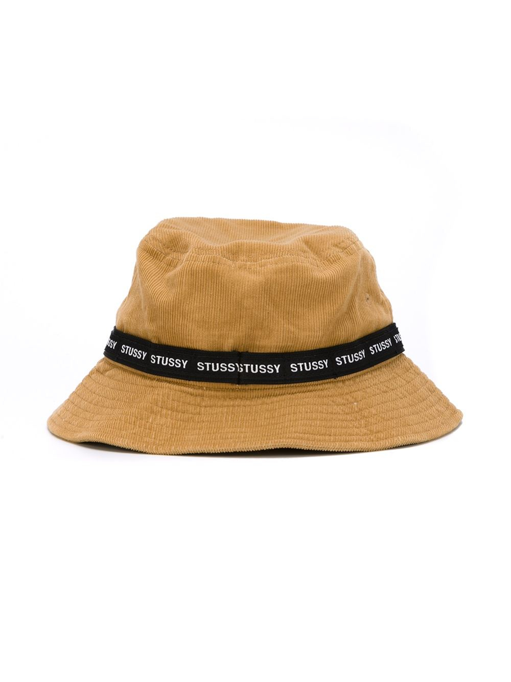 39f01508c93 Lyst - Stussy Logo Band Corduroy Bucket Hat in Natural for Men