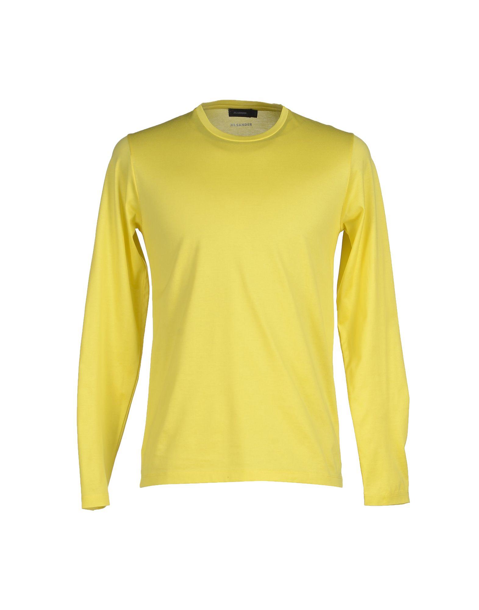 Jil sander t shirt in yellow for men lyst for Jil sander mens shirt